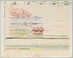 Iannis Xenakis, Study for Polytope de Montréal (light score), c. 1966