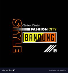 Bandung City, Nike T Shirt Mens, Name Logo, Clothing Logo, City Style, Business Names, Portfolio Design, Logo Design, Graphic Design