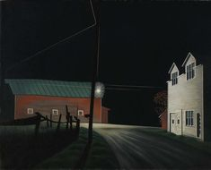 George Copeland Ault Bright Light at Russell's Corners 1946