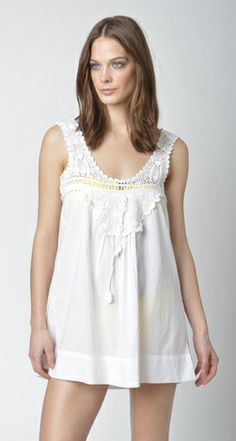 Lisa Curran Swim - Crochet Top in White