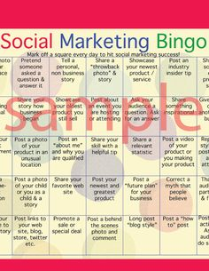 Heres something fun! Facebook, instagram, twitter and other social media sites are vital tools for promoting your business. But there always seems to be so many unwritten rules. Dont post too much, dont post too little .... personal or not personal? Oh my!  This Social Marketing Bingo sheet is really an inspiration guide giving you 35 days of marketing posts to make. None repeat and if you check them off as you go you will have a varied, interesting and inviting newsfeed for your audience…