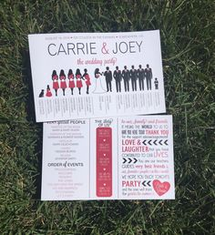 Silhouette Wedding Program Wedding Party by SimpleandStunning2