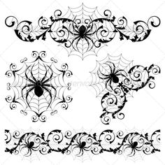 Set Set with a spider's webs and spider Created: GraphicsFilesIncluded: JPGImage Layered: No MinimumAdobeCSVersion: CS Tags: background 1 Tattoo, Tattoo Drawings, Art Drawings, Inca Tattoo, Holidays Halloween, Halloween Crafts, Halloween Borders, Spider Clipart, Spider Web Tattoo