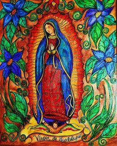 """""""I will demonstrate, I will exhibit,  I will give all my love, my compassion, my help and my protection to the people. I am your merciful mother, the merciful mother of all of you  who live united in this land, and of all mankind, of all those who love me, of those who cry to me, of those who seek me, of those who have confidence in me. Here I will hear their weeping, their sorrow and will remedy and alleviate all their multiple sufferings, necessities and misfortunes."""" (art by Coopercat)"""