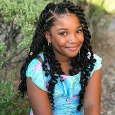 Black Girl Braided Hairstyles, Girls Natural Hairstyles, Cute Girls Hairstyles, African Braids Hairstyles, Children Braided Hairstyles, Hairstyles For Black Kids, Hairstyle Short, School Hairstyles, Prom Hairstyles