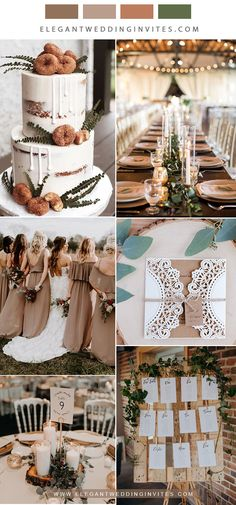 Neutral wedding colors are always classic regardless of the season. Cool tones can cool down your palate in the summer, while warm tones can cozy up a winter wedding! Here are some fabulous ways to incorporate neutral. Taupe Wedding, Rustic Wedding Colors, Neutral Wedding Colors, Wedding Color Schemes, Dream Wedding, Rustic Boho Wedding, Neutral Colors, Elegant Wedding, November Wedding Colors