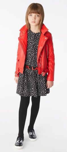 Karl Lagerfeld FW 19/20 Karl Lagerfeld Kids, Red Leather, Leather Jacket, Jackets, Style, Fashion, Studded Leather Jacket, Down Jackets, Swag