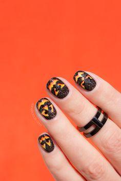 Vicious Pumpkin Nails ||  Halloween nail art 2016