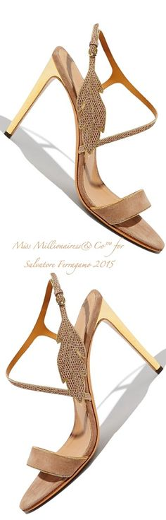 cfd82e81a844ef Salvatore Ferragamo 2015 Ankle-Strap Sandal With Leaf Detail - Miss  Millionairess's Boutique™ Chaussures