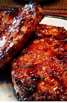 "World's Best Honey Garlic Pork Chops ""A quick and simple grilled pork chop that everyone will love featuring a simple and easy glaze."" World's Best Honey Garlic Pork Chops – World's Best Honey Garlic Pork Chops Pork Chops And Rice, Honey Garlic Pork Chops, Oven Baked Pork Chops, Smoked Pork Chops, Barbeque Pork Chops, Honey Glazed Pork Chops, Brown Sugar Pork Chops, Crock Pot Pork Chops, Asian Pork Chops"