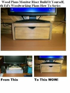 how to build a confidence monitor stand