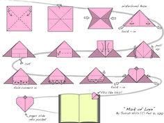 Mark of Love - heart bookmark