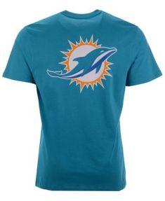 47 Brand Men s Miami Dolphins Fade Back Super Rival T-Shirt - Blue L.   90e1aea9f