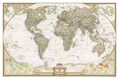 NG The World Antique style 2007. Древние карты мира в высоком разрешении - Старинные карты