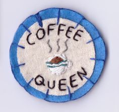 Coffee Queen Patch by Hanecdote on Etsy, £7.00