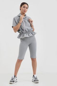 The was - Online Women's Clothing Store. You are just a few clicks from the latest Women's Loungewear Sets Denim Outfit, Denim Shirt, Womens Clothing Stores, Clothes For Women, Loungewear Set, Trending Now, Playsuits, Denim Fashion, Neue Trends