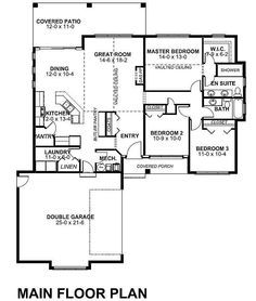 1000 images about house plans on pinterest monster for Side load garage house plans