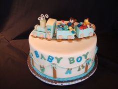 Baby Train By debbief on CakeCentral.com