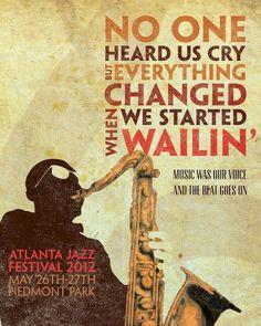 Atlanta jazz… Festival Jazz, Festival Posters, Rock Posters, Music Posters, Concert Posters, Atlanta, Jazz Poster, Jazz Funk, Jazz Musicians