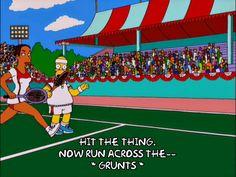 homer simpson season 12 episode 12 tennis serena williams 12x12 useless hit the thing via diggita.it #tennis