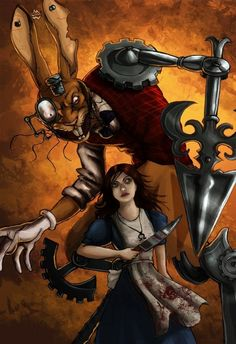 Battle with the March Hare by fiszike on DeviantArt