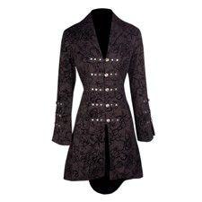 Black Long Button Coat