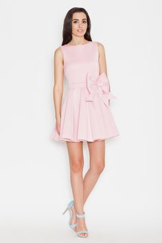 Katrus K271 Sukienka - różowy