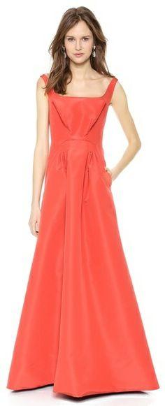 Zac Posen Sleeveless Silk Faille Gown on shopstyle.com