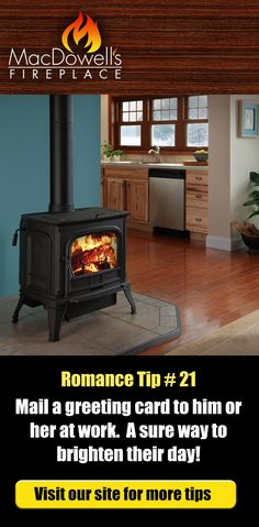 Want more romance in your life?  We think fireplaces and flowers will do the trick.  Click the yellow button above to see our web site. #fireplace #romance