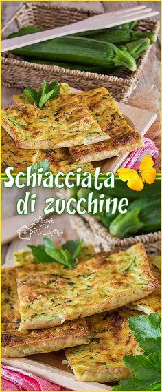Schiacciata di #zucchine #ricetta semplice e sfiziosa #recipes https://blog.giallozafferano.it/graficareincucina/schiacciata-di-zucchine/