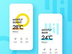 Dailyui 37 - Weather by Chris Lim Web Design, App Ui Design, Interface Design, Website Design Layout, Fancy App, Smart Home Design, Desktop Design, App Design Inspiration, Mobile Ui Design