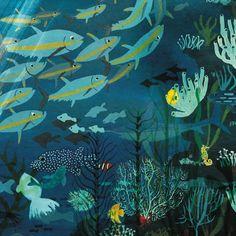 Illustration by Marc Martin Sea Illustration, Underwater Art, Environment Concept Art, Ocean Art, Fish Art, Cute Art, Sculpture Art, Art Inspo, Art Reference