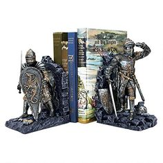 Design Toscano CL3434 Arthurian Knight Bookend in Two-Tone Metallic (Set of 2) Design Toscano http://www.amazon.com/dp/B001R6HZ1I/ref=cm_sw_r_pi_dp_og9Bub1R4AMF2