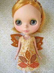 leaf pile autumn fairy dress   by merwing✿little dear