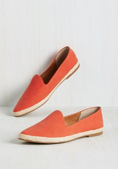 Browse Flat in Tangerine by Seychelles - Orange, Solid, Casual, Minimal, Flat, Exceptional, Espadrille, Saturated, Work, Summer