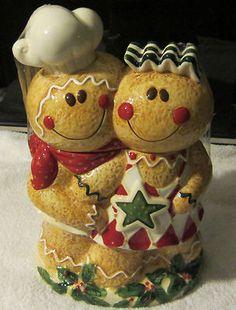 "Lang Cookie Jar ""Gingerbread"" Gingerbread Man and Women"
