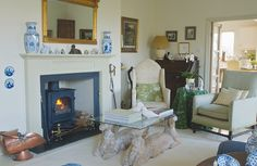 The formal living room is predominantly used by the Begg's B&B guests. It features a woodburning stove and leads to the extension through a ...