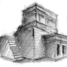 """DIBUJO: Lápiz - """"Otra pirámide Inca"""""""