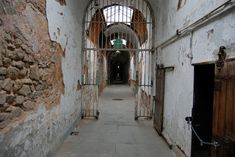 The most haunted prisons to visit. There are many legends and stories surrounding prisons that are deemed to be haunted around the world. Haunted Places, Abandoned Places, Haunted Prison, Creepy, Scary, Lobster Fishing, Eastern State Penitentiary, Colonial, Places To Go