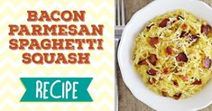 This Bacon-Parmesan Spaghetti Squash recipe is a deliciously easy side dish – it might even turn a reluctant spaghetti squash eater into a fan.