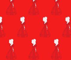 Ruler of the heart fabric by majoranthegeek on Spoonflower - custom fabric