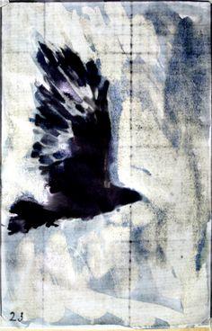 Kentridge Vulture overdrawn for Ravengirl Zoetrope