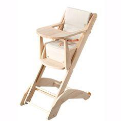 Combelle chaise haute fixe lili bois naturel baby for Chaise haute combelle bois