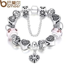 BAMOER TOP Sell European Charm Bracelet For Women With Heart Letter Beads Pink Murao Glass Beads 3 Colors PA1825 $11.57   => Save up to 60% and Free Shipping => Order Now! #fashion #woman #shop #diy  http://www.rodjewelry.com/product/bamoer-top-sell-european-charm-bracelet-for-women-with-heart-letter-beads-pink-murao-glass-beads-3-colors-pa1825/
