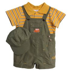 Pin it! :) Follow us :)) zBabyBaby.com is your Baby Gallery ;) CLICK IMAGE TWICE for Pricing and Info :) SEE A LARGER SELECTION of baby boy clothes at http://zbabybaby.com/category/baby-categories/baby-clothing-and-accessories/baby-boy-clothes/ - baby, infant, nursery, baby shower, baby stuff,  baby gear, toddler, toddler stuff, baby boy clothes, baby clothes  - BT Kids Newborn Baby Boys 3 Piece Green Overalls Striped Polo Shirt with Hat Set « zBabyBaby.com