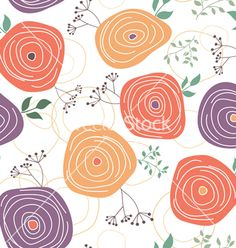 Floral seamless pattern vector by samiola-la-la on VectorStock®