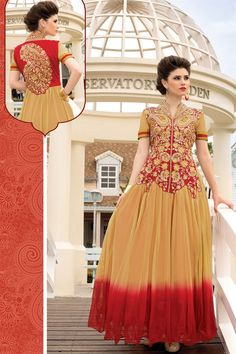 Marvelous Evening Party Wear #DesignerGown With Embroidered Work Just Only RS. 2575