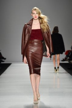 leather pencil skirt outfits - Google Search