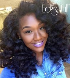 awesome Beautiful Curls on Long Natural Hair IG:Chigirlmakeup  Pelo Natural, Long Natural Hair, Natural Curls, Natural Hair Brides, Natural Hair Wedding, Wedding Updo, Curly Hair Styles, Natural Hair Styles, Curly Crochet Hair Styles