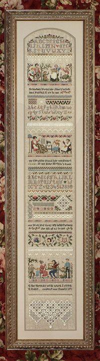 Heirloom Stitching Sampler de Victoria Sampler -  -  - Casa Cenina